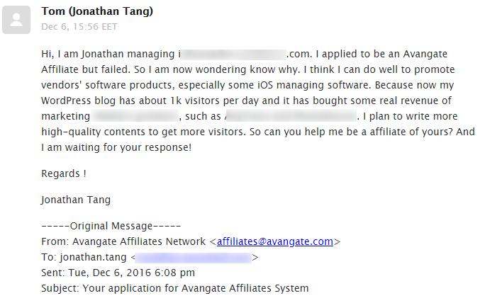 发邮件了解被拒原因-Avangate