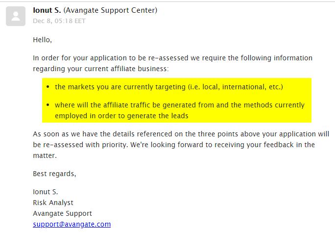收到Avangate回信要说明情况