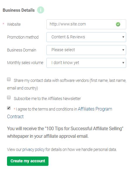 Avangate代理平台申请表格2