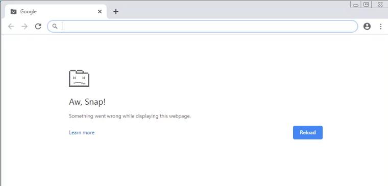谷歌浏览器崩溃卡死
